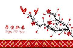 Chinese de groetkaart van het Nieuwjaar vector illustratie