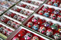 Chinese de operamaskers van Peking Stock Fotografie