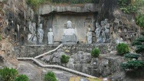 Chinese de steenstandbeelden van Boedha in Shenzhen Stock Foto