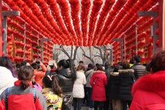 Chinese de tempelmarkt van het Nieuwjaar/de Lente Festival Stock Afbeeldingen