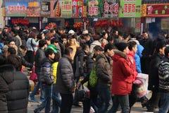 Chinese de tempelmarkt van het Nieuwjaar/de Lente Festival Royalty-vrije Stock Afbeeldingen