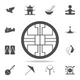 Chinese decor icon. Set of Chinese culture icons. Web Icons Premium quality graphic design. Signs and symbols collection, simple i. Cons for websites, web design Stock Photography