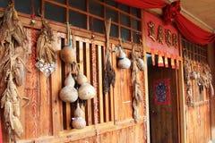 Chinese decoratie - Kalebasboom 2 Royalty-vrije Stock Afbeelding