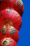 Chinese decoration. Chinese holiday decoration against the blue sky stock photo