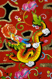 Chinese Decoration for New Year. This is a dragon motif on decoration used for Chinese New Year, also known as Spring Festival.  With black background Stock Photography
