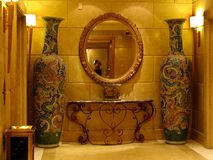 Chinese decoration in a Nice hotel. Furniture and more in a nice hotel Stock Photos