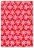 Chinese decorative icons. Red colour decorative icons graphic illustration Stock Photography