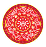 Chinese decorative icons. Red colour decorative icons graphic illustration Royalty Free Stock Photography