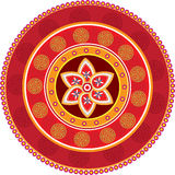 Chinese decorative icons. Red colour decorative icons graphic illustration Royalty Free Stock Image