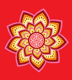 Chinese decorative icons. Red colour decorative icons graphic illustration Royalty Free Stock Photo