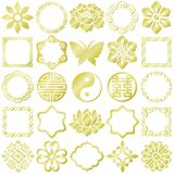 Chinese decorative icons. royalty free illustration