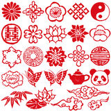 Chinese decorative icons Royalty Free Stock Photo