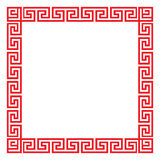 Chinese decorative square frame Royalty Free Stock Photos