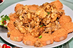 Chinese deep fried mushroom Royalty Free Stock Image