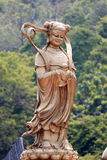 Chinese deities sculpture. Stock Photo