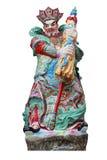Chinese deity isolated on white Royalty Free Stock Photo