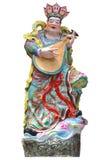 Chinese deity isolated on white Royalty Free Stock Images