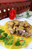 Chinese delicious food��orange and lamb chop Stock Image