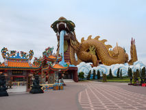 Chinese Descendants Museum in Thailand. Suphanburi, Thailand - June 30, 2016: The Dragon Descendants Museum at Suphanburi  Province. Visitors will discover the Royalty Free Stock Images