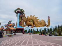 Chinese Descendants Museum in Thailand. Suphanburi, Thailand - June 30, 2016: The Dragon Descendants Museum at Suphanburi  Province. Visitors will discover the Royalty Free Stock Photo