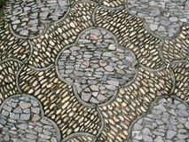 Chinese design stone road closeup Royalty Free Stock Image