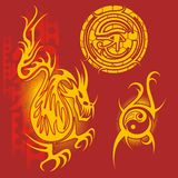 Chinese design - vector set. Royalty Free Stock Images