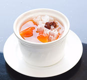 Chinese Dessert. White cup with the Chinese Dessert Royalty Free Stock Photos