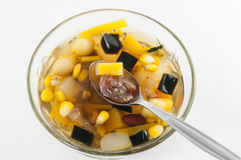 Chinese dessert ,Assorted Beans In Longan Syrup Royalty Free Stock Photos