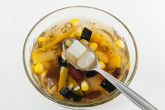 Chinese dessert ,Assorted Beans In Longan Syrup Royalty Free Stock Images