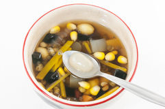 Chinese dessert ,Assorted Beans In Longan Syrup Royalty Free Stock Photo