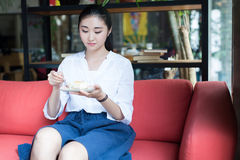 Chinese dessert in girls Royalty Free Stock Photography