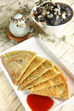 Chinese dessert, green onion pancake Royalty Free Stock Image