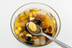 Chinese dessert ,Lotus seed and assorted Beans In Longan Syrup Stock Photography