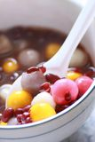 Chinese dessert, red bean soup with rice ball Stock Image