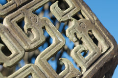 Chinese detail pattern structure Royalty Free Stock Images