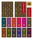 Chinese Diamond Sutra seamless pattern cover bookmark Stock Photography