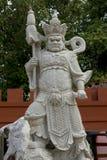 Chinese die goden van wit marmer worden gesneden stock fotografie