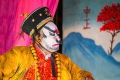 Chinese die opera voor een maan nieuwe jaarviering wordt uitgevoerd Royalty-vrije Stock Fotografie