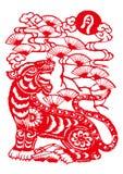 Chinese Dierenriem van tijgerjaar stock illustratie