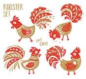 Chinese Dierenriemreeks van 2017 - Rood Haannieuwjaar Royalty-vrije Stock Foto