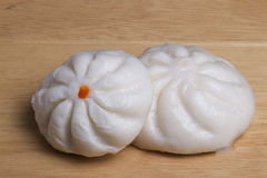 Chinese dim sum. Char Siu Bao - Chinese steamed bun filled with bbq pork - Cantonese Dim Sum Stock Images