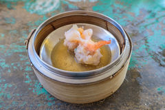 Chinese Dim sum in bamboo basket Royalty Free Stock Photo