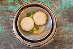 Chinese Dim sum in bamboo basket Royalty Free Stock Photography