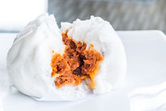 Chinese dim sum BBQ Pork Bun Royalty Free Stock Images