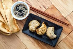 Chinese Dim Sum Dumplings. Delicious Chinese Dim Sum dumplings topped with sesame seeds stock images