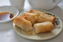 Deep Fried spring roll dim sum Royalty Free Stock Image
