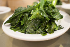 Chinese dim sum - gai lan (chinese greens) Royalty Free Stock Photography