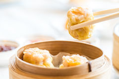 Chinese dim sum Shumai. Steamed Chinese groumet cuisine royalty free stock photography