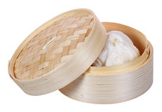 Chinese dimsum bamboo steamer Stock Photo