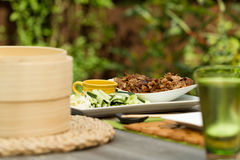 Chinese dining outdoors Royalty Free Stock Photos
